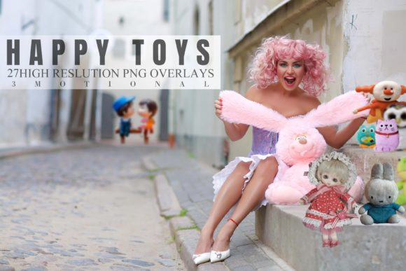 Print on Demand: 27 Happy Toys Overlays Graphic Backgrounds By 3Motional