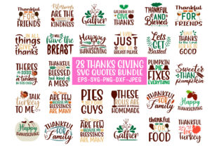 Print on Demand: 28 Thanks Giving Quotes Bundle Graphic Crafts By Design Store Bd.Net