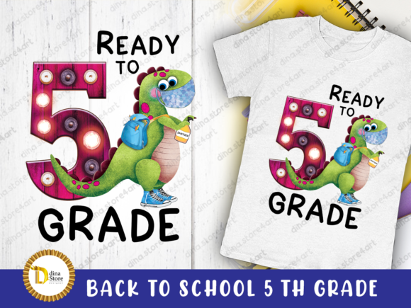 Print on Demand: Back to School Fifth Grade Sublimation Graphic Crafts By dina.store4art
