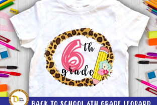 Back to School Leopard Frame 6 Th Grade Graphic Crafts By dina.store4art