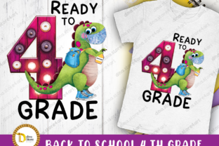 Back to School Fourth Grade Sublimation Graphic Crafts By dina.store4art