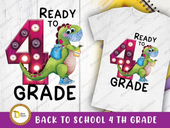 Print on Demand: Back to School Fourth Grade Sublimation Graphic Crafts By dina.store4art