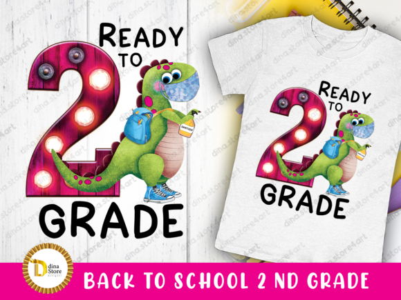 Print on Demand: Back to School Second Grade Sublimation Graphic Crafts By dina.store4art