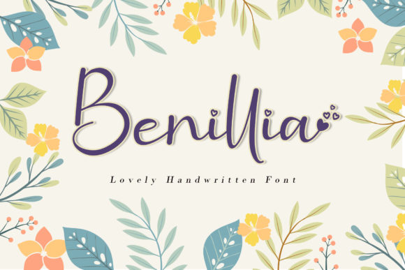Print on Demand: Benillia Script & Handwritten Font By AEN Creative Studio