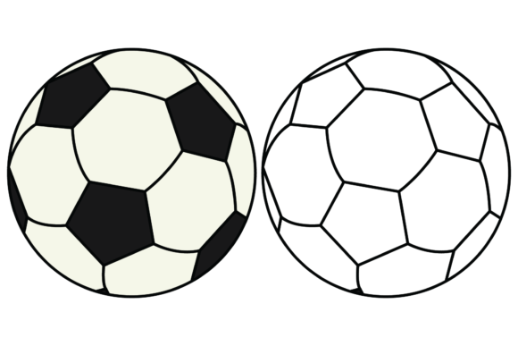 Print on Demand: Coloring Soccer Ball for Kids Graphic Illustrations By studioisamu