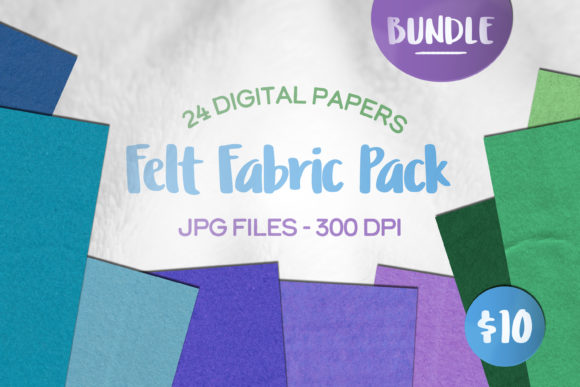 Print on Demand: Crafting Felt Fabric Digital Paper Fur Graphic Textures By Inkclouddesign