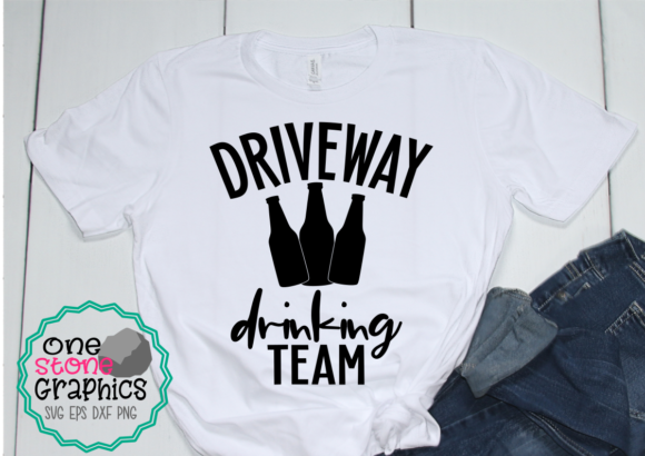 Driveway Drinking Team Graphic Print Templates By OneStoneGraphics