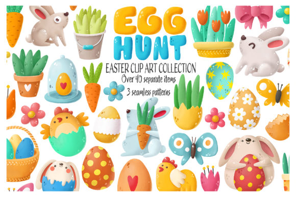 Print on Demand: Easter Clip Art Collection Graphic Illustrations By Architekt_AT