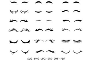 False Lashes Clipart Graphic Crafts By RedCreations