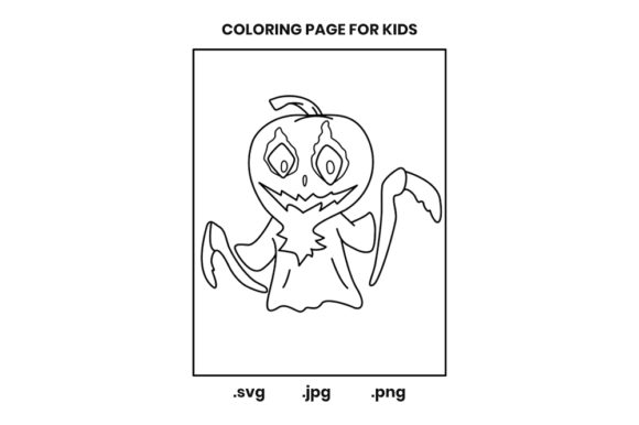 Print on Demand: Halloween Coloring Page for Kids Graphic Coloring Pages & Books Kids By doridodesign