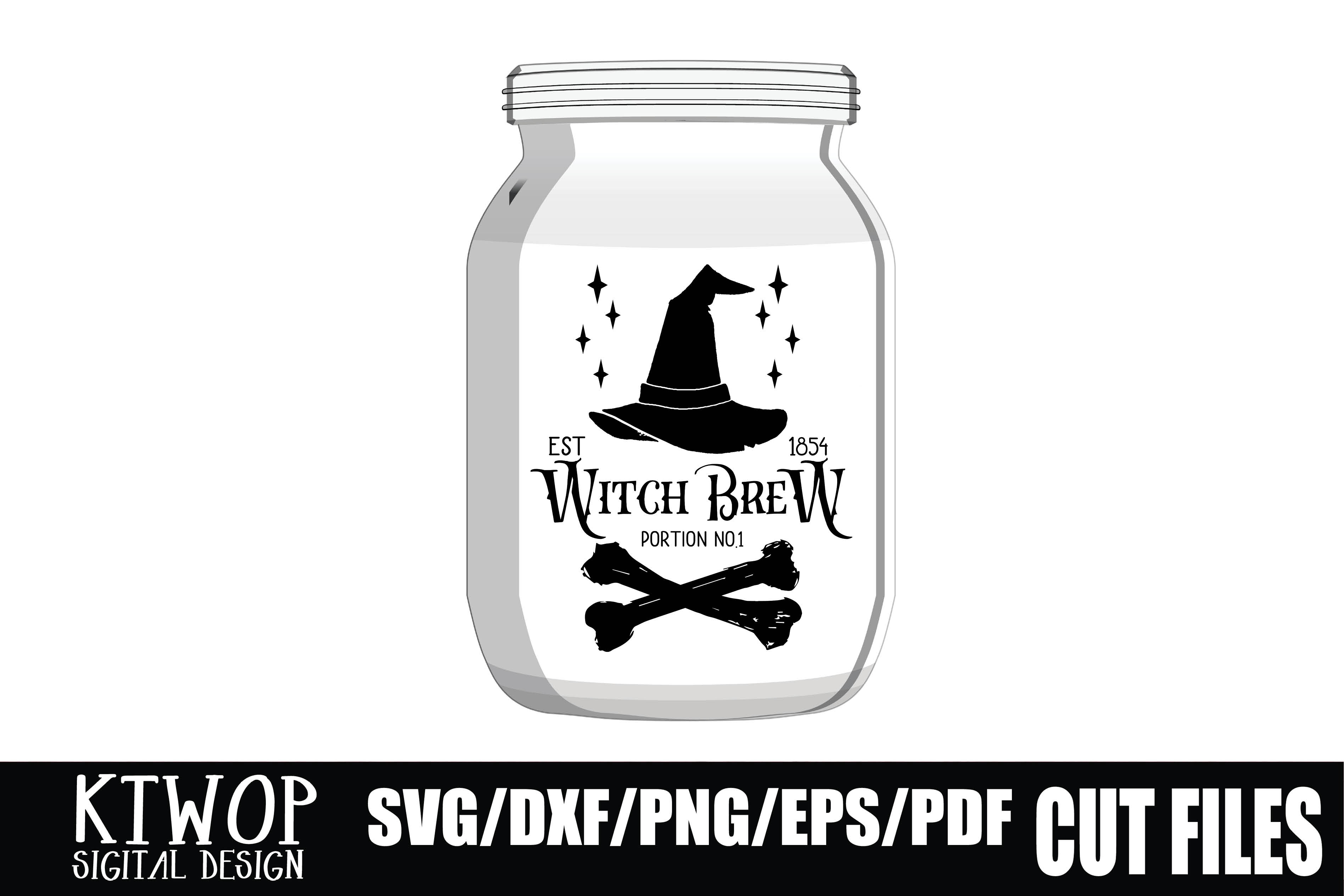 Halloween Label Witch Brew Graphic By Ktwop Creative Fabrica