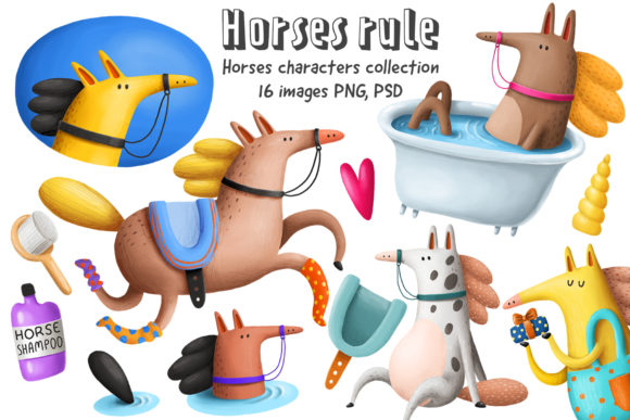 Print on Demand: Horses Clipart Graphic Illustrations By Architekt_AT