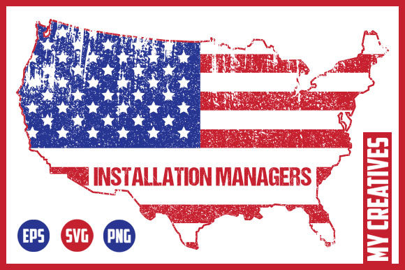 Installation Managers - USA Map Gráfico Crafts Por MY Creatives
