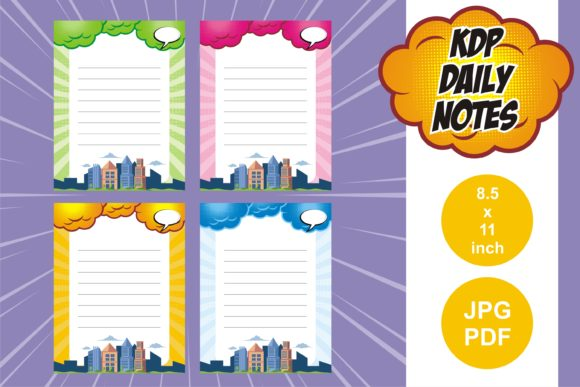 Print on Demand: KDP Comic Daily Planner and Notes Graphic KDP Interiors By edywiyonopp