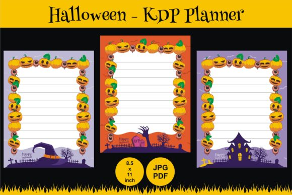 Print on Demand: KDP Halloween Daily Planner Best Graphic Graphic KDP Interiors By edywiyonopp