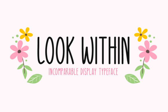 Print on Demand: Look Within Script & Handwritten Font By Seemly Fonts