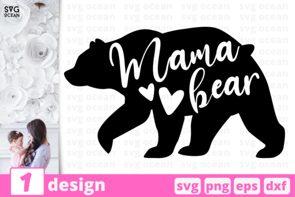 Mama Bear Graphic Crafts By SvgOcean