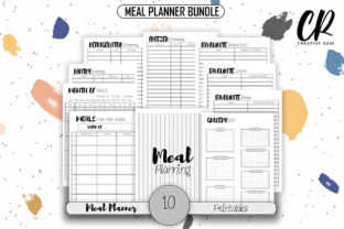 Meal Planner Bundle Graphic Print Templates By Creative Ram