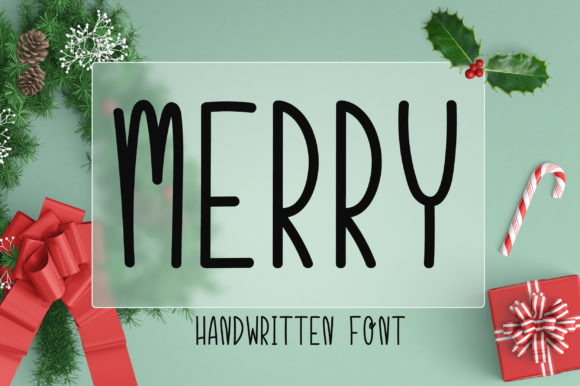 Print on Demand: Merry Script & Handwritten Font By PearlyDaisy