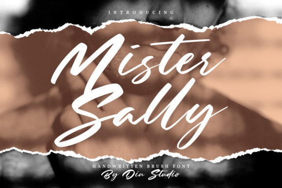 Print on Demand: Mister Sally Script & Handwritten Font By Din Studio