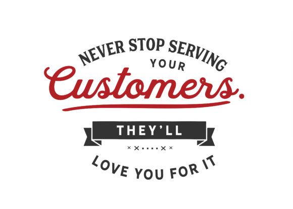 Print on Demand: Never Stop Serving Your Customers Graphic Illustrations By baraeiji