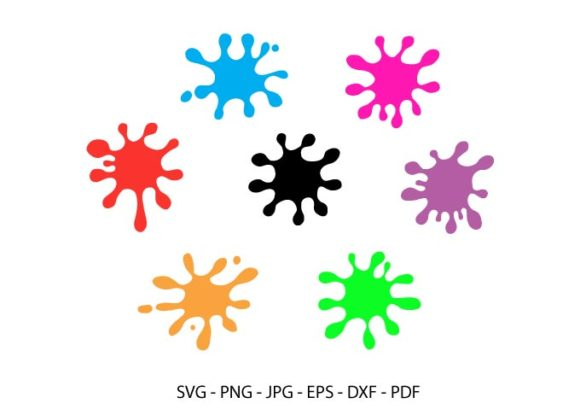 Paint Splatter,  Ink Splatter Clipart Graphic Crafts By RedCreations