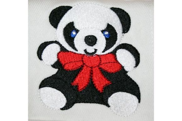 Panda Bear Tierkinder Stickdesign von BabyNucci Embroidery Designs