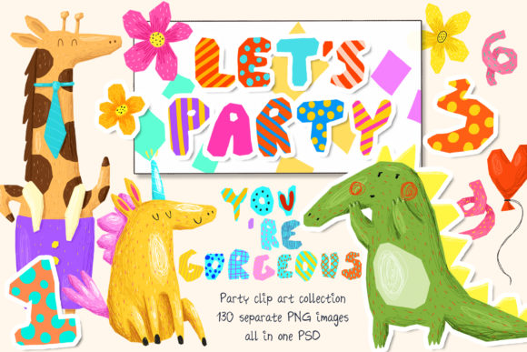 Print on Demand: Party Clipart Bundle Graphic Illustrations By Architekt_AT