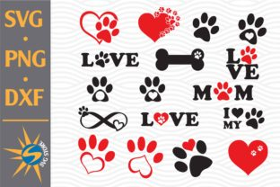 Print on Demand: Paw, Love Paw Graphic Crafts By SVGStoreShop
