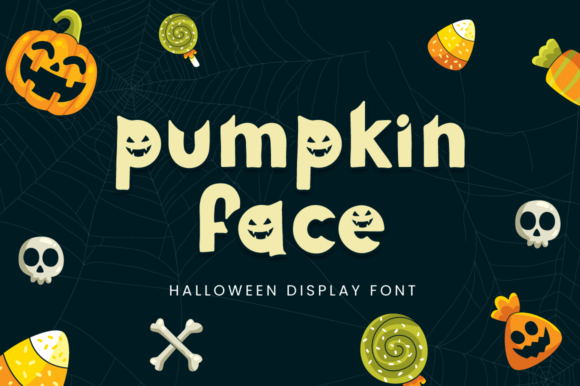Print on Demand: Pumpkin Face Display Font By attypestudio