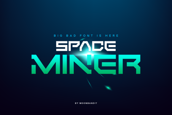 Print on Demand: Space Miner Display Font By moonbandit