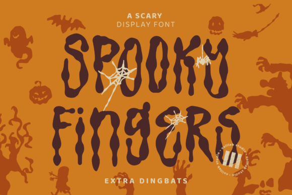 Print on Demand: Spooky Fingers Display Font By colllabstudio