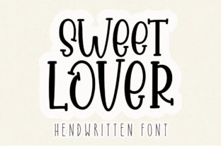 Print on Demand: Sweet Lover Display Font By Aqeela Studio