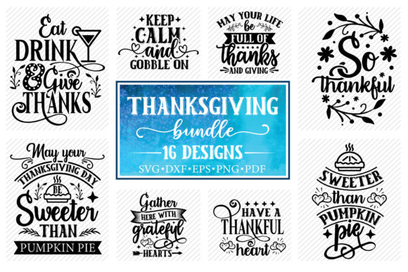 Thanksgiving Quotes Bundle Graphic Crafts By CraftlabSVG