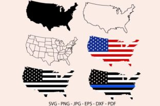 USA Maps Graphic Crafts By RedCreations