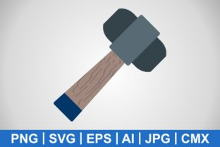 Print on Demand: Vector Hammer Icon Graphic Icons By IYIKON