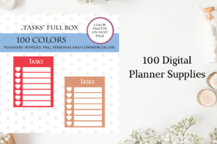 Weekly Full Box Tracker, Task Plannner Graphic Objects By Aneta Design