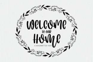 Print on Demand: Welcome to Our Home Script & Handwritten Font By BitongType