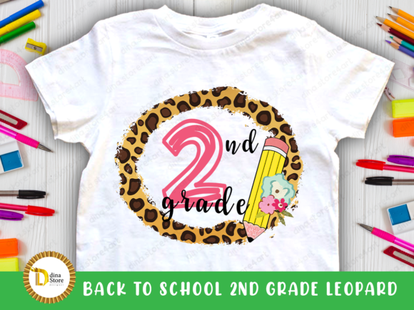 Print on Demand: Back to School Leopard Frame 2 Nd Grade Graphic Crafts By dina.store4art
