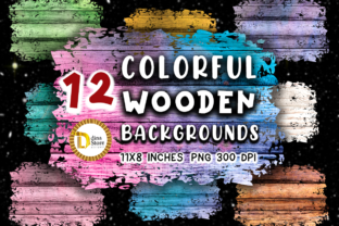 Sublimation Colorful Wooden Backgrounds Graphic Backgrounds By dina.store4art 1