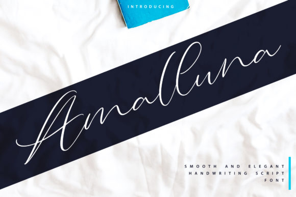 Print on Demand: Amalluna Script & Handwritten Font By Vunira