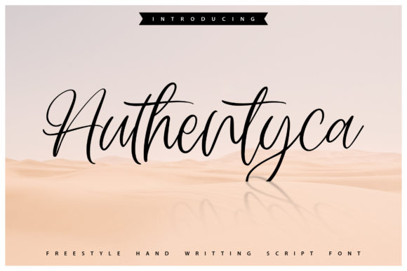 Print on Demand: Authentyca Script & Handwritten Font By Vunira