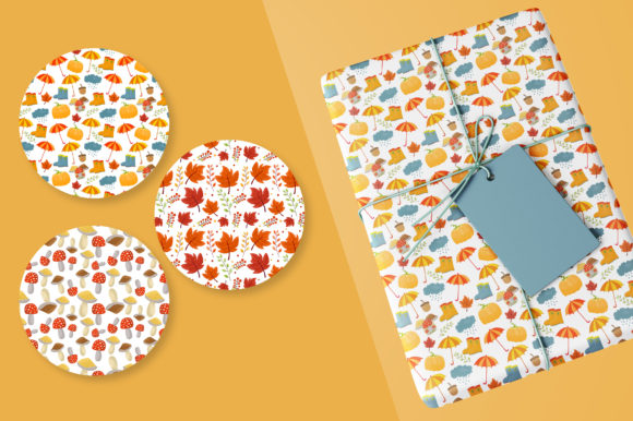 Autumn/Fall Seamless Vector Patterns Graphic Download