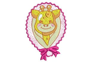 Baby Giraffe Pink Baby Animals Embroidery Design By BabyNucci Embroidery Designs