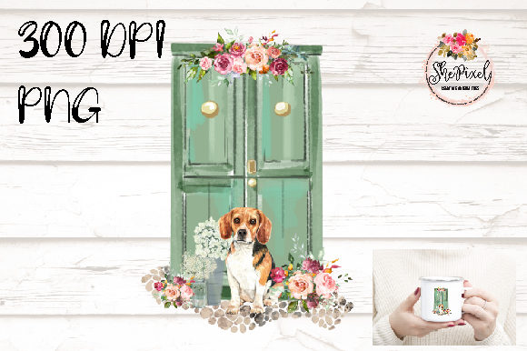 Print on Demand: Beagle Watercolor, Rustic, Clipart Graphic Illustrations By Sublimation Hut