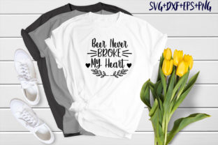 Print on Demand: Bear Design : Beer Never Broke My Heart Graphic Crafts By SVG_Huge