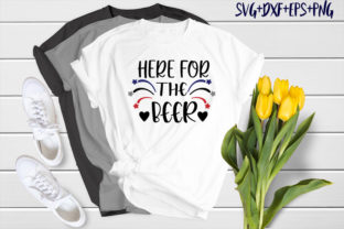 Print on Demand: Bear Design : Here for the Beer Graphic Crafts By SVG_Huge