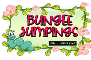Print on Demand: Bungee Jumpings Display Font By Supersemar Letter