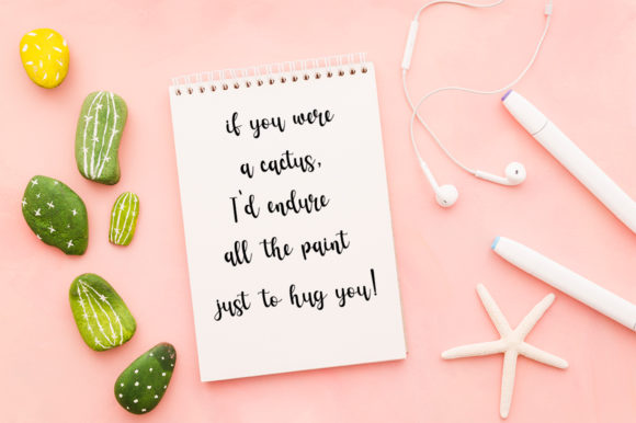 Print on Demand: Cactus Script & Handwritten Font By Fillo Graphic - Image 5