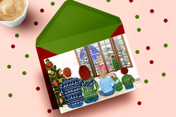 Christmas Family Clipart Matching Sweaters Graphic Preview